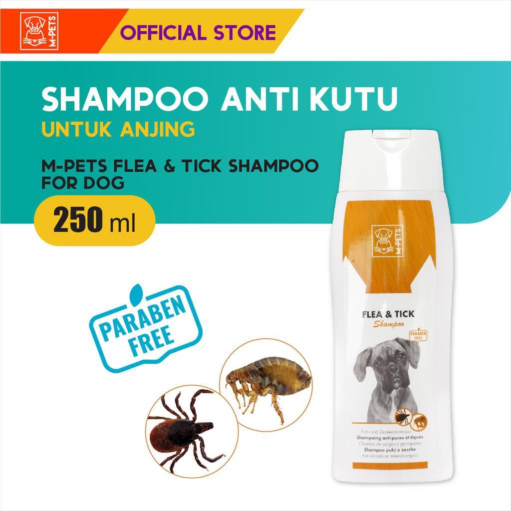 M-Pets Flea & Tick Dog Shampoo 250 ml / Shampoo Anjing Anti Kutu