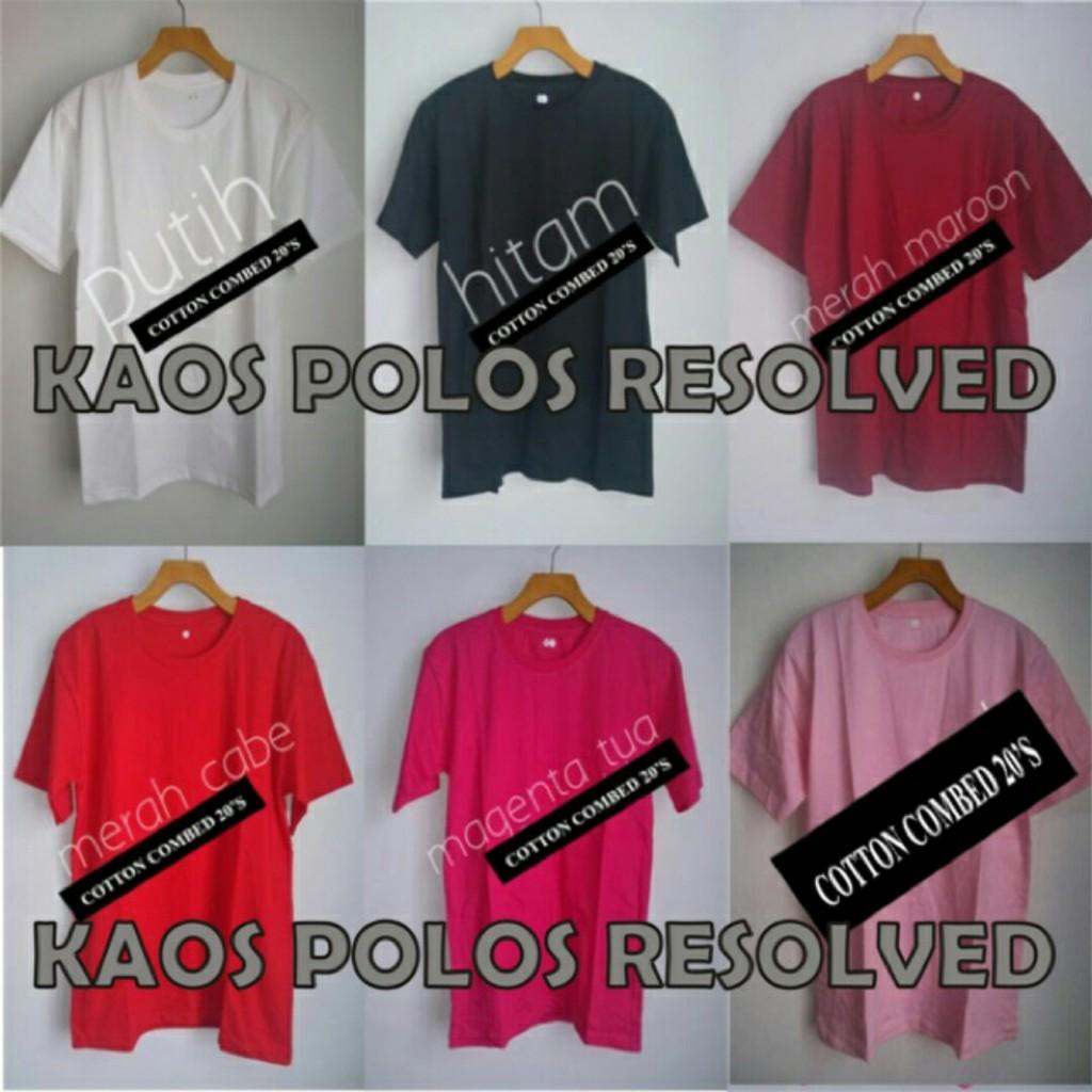 Kaos Polos Super Cotton Combed 20s Shopee Indonesia 100 Persen Real Premium