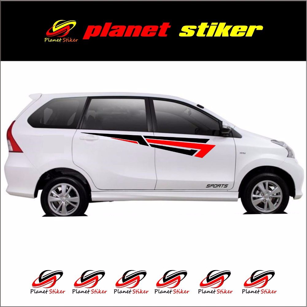 Promo Cutting Sticker Stiker Mobil Toyota Rush Daihatsu Terios Line Custom Body Cover All New Avanza Sarung Flag Racing Mantab Shopee Indonesia