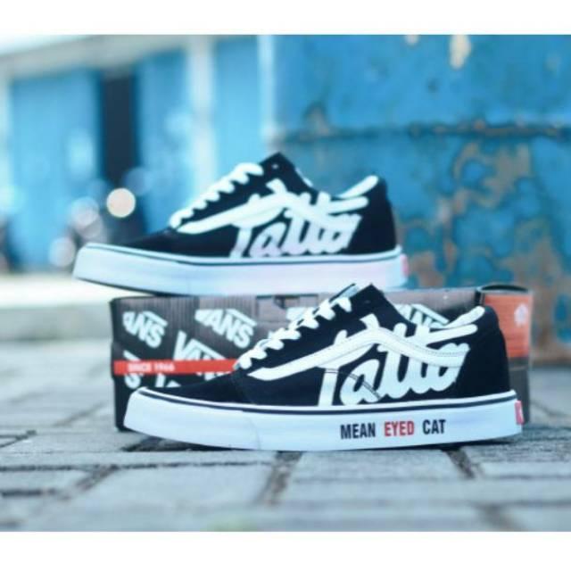 aad4947e8c Sale Sepatu Vans Old Skool X Patta Mean Eyed Cat . Sepatu Casual Sekolah  Skate