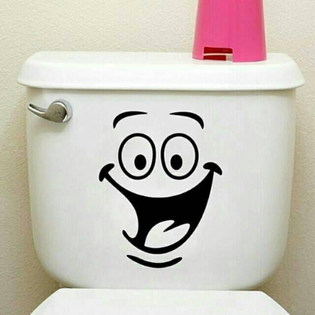 Sticker Toilet Cutting Smile