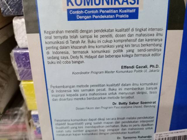 Metode Penelitian Komunikasi By Deddy M Shopee Indonesia