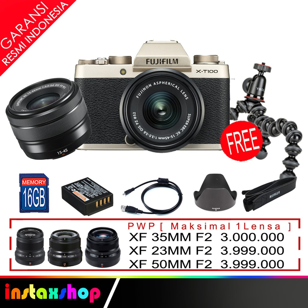 Fujifilm Xa10 X A10 Kit 16 50mm Brown Shopee Indonesia Xt20 Silver T20 Xt 20 Hitam