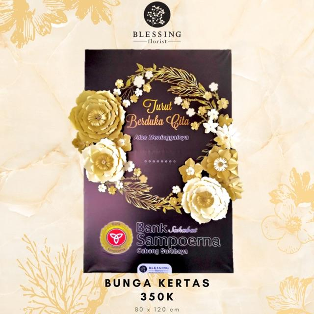 Karangan Bunga Papan Kertas Surabaya Shopee Indonesia