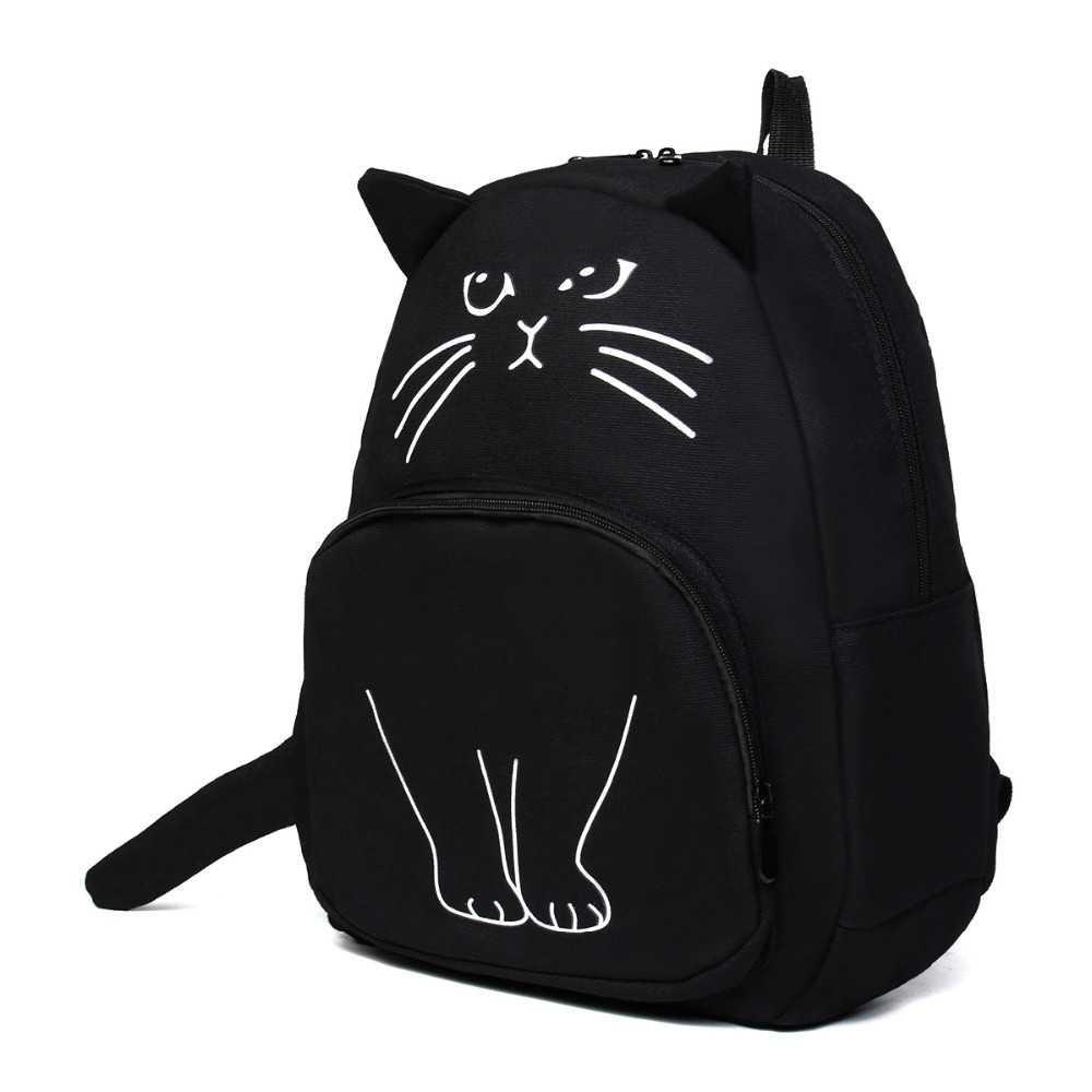 Tas Ransel Wanita Model Cute Cat / Kucing Lucu / Impor ...