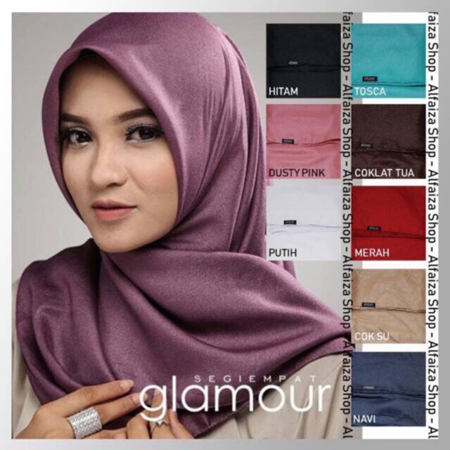 Jilbab Segi Empat Shinar Glamour Ansania Shopee Indonesia