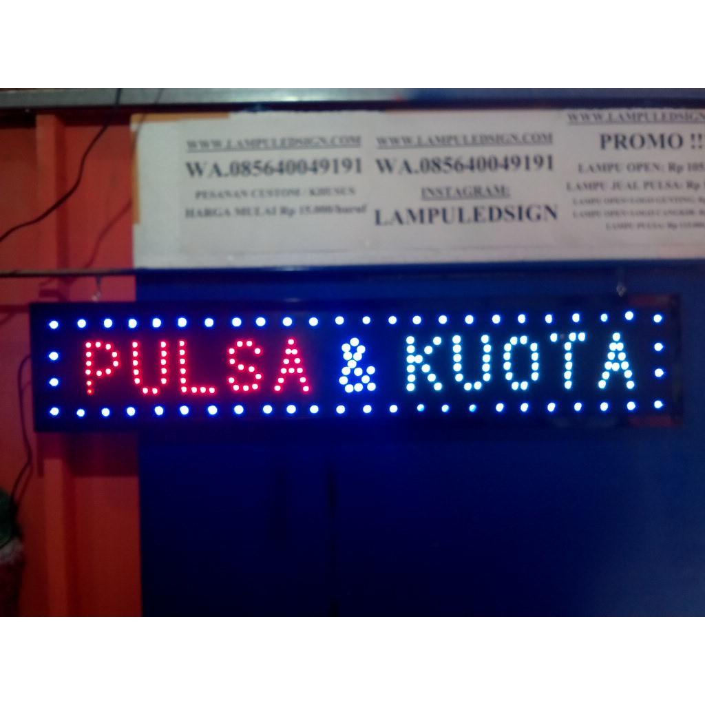 Jual Board Tulisan Lampu Led Sign Display Promosi Pulsa Kuota Premium Quality Shopee Indonesia