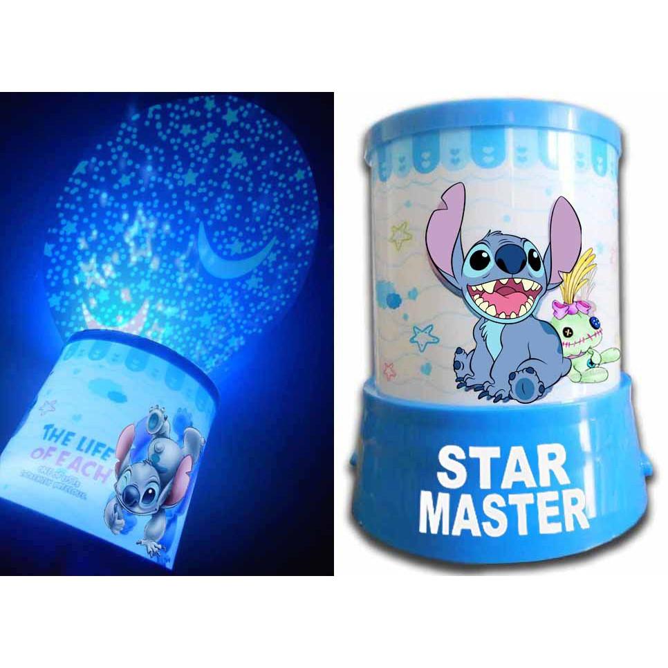 Lampu Tidur Star Master Stitch Proyektor Cahaya Kartun Animasi Lucu Murah Surabaya Limited Edit