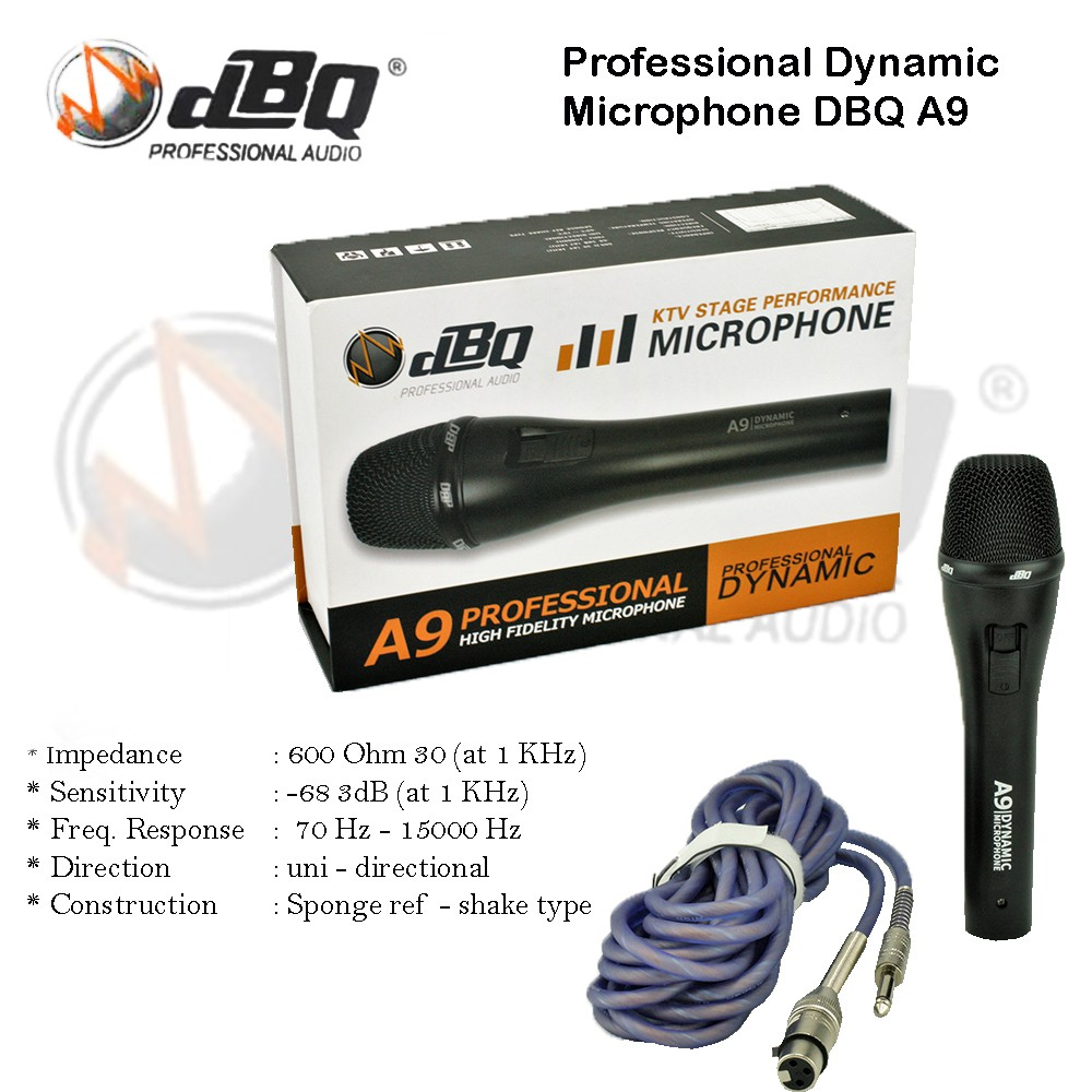 Microphone DBQ A9 / Mic DBQ A9 Dynamic Vocal Microphone Acoustic