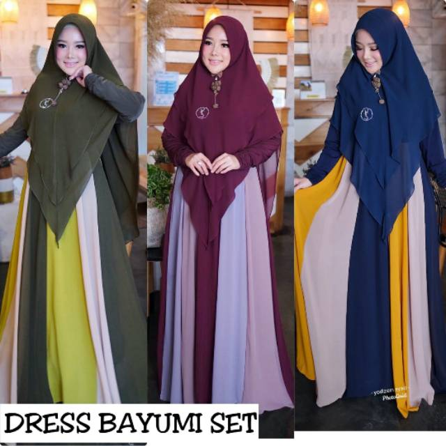 Dress Bayumi set ori by.yodizein syar'i