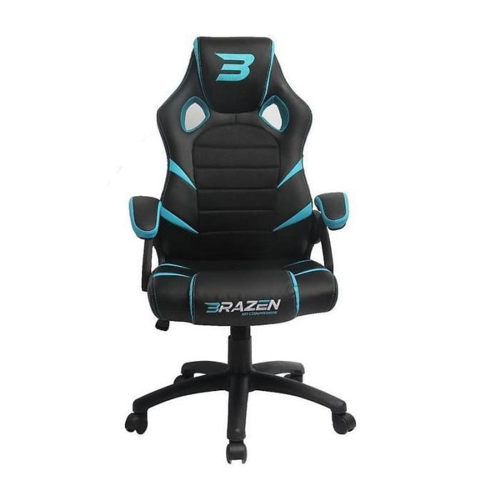 Kursi Gaming Brazen Puma Pc Gaming Chair Black/Blue Fiafia ...