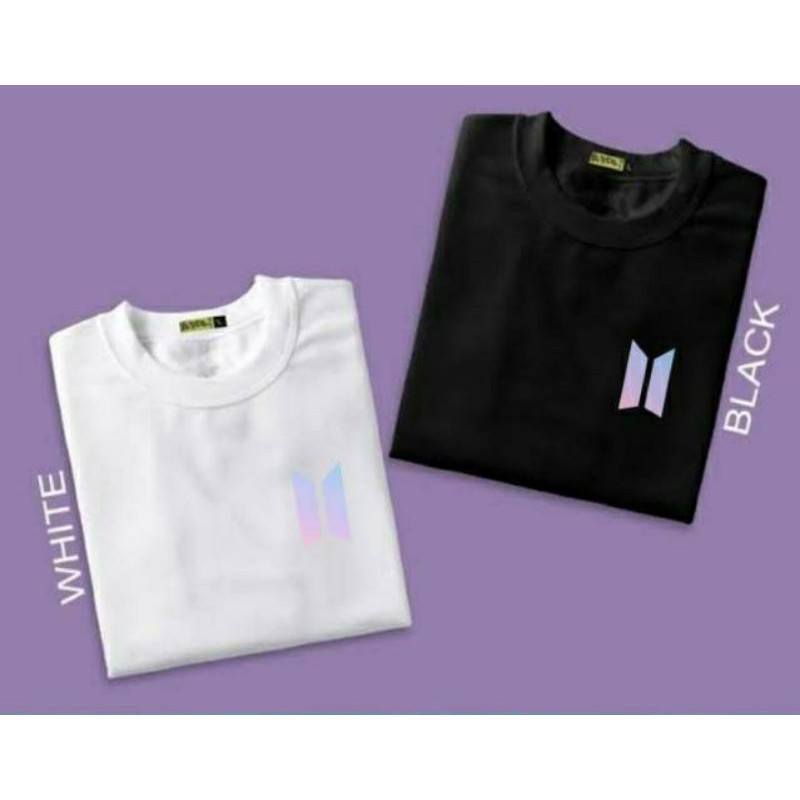 Kaos Baju Logo BTS purple