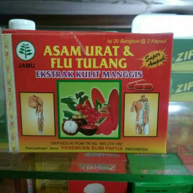 Asam urat & flu tulang ekstrak kulit manggis kapsul