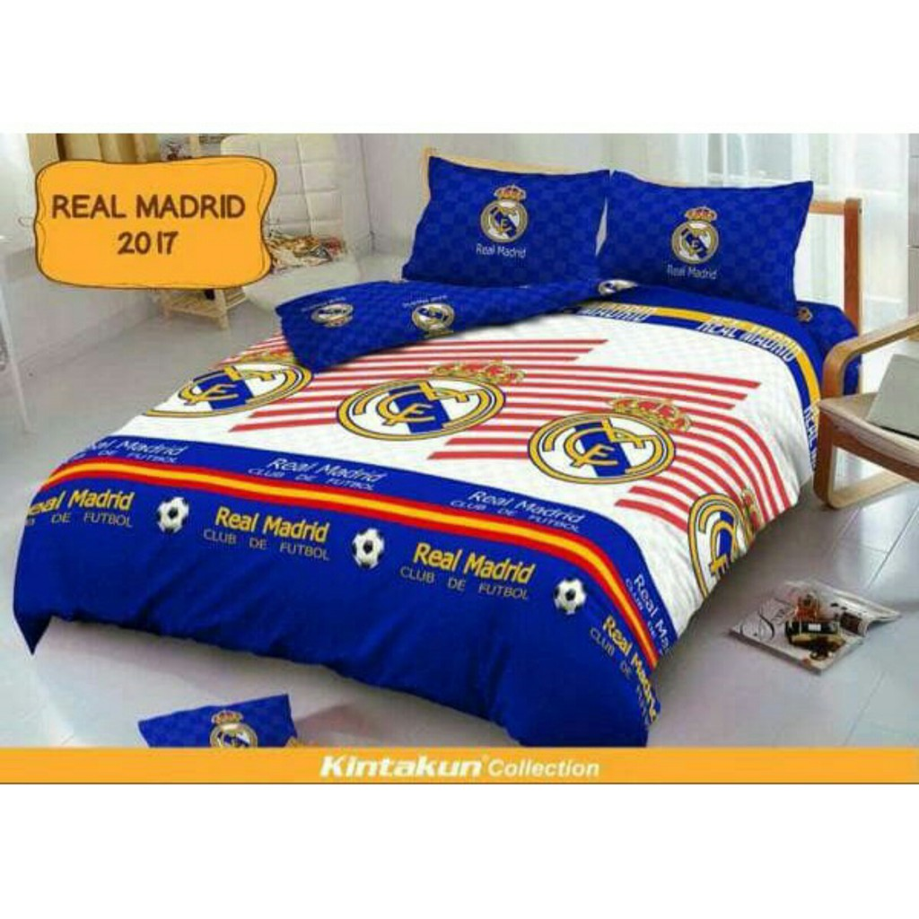 Sprei Kintakun Dluxe Single120x200 Motif Mureal Madridbarcelona 120x200 Single Azaki Madridbarcelonaac Milan Juventusthe Blues Shopee Indonesia