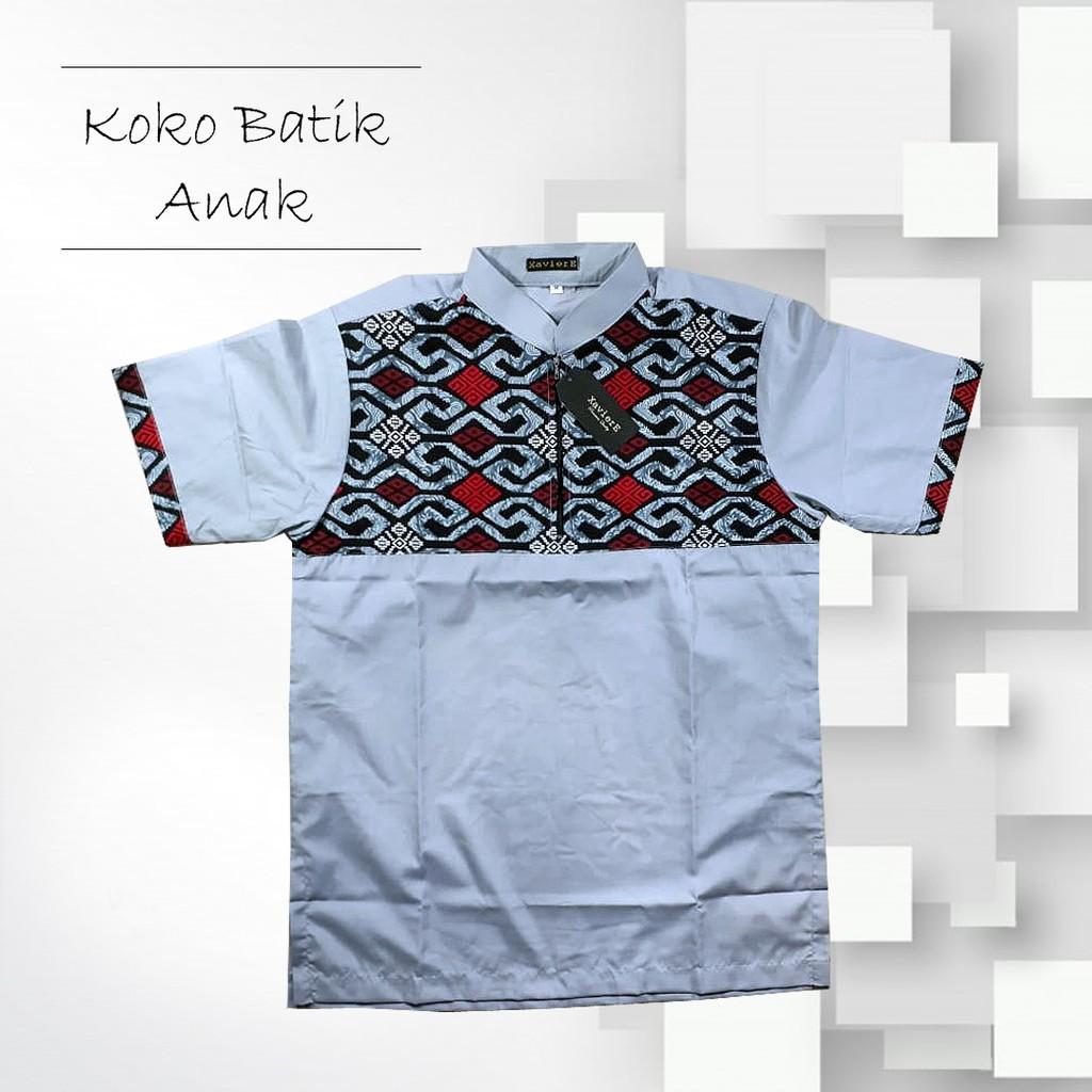 Koko Couple Anak Dan Dewasa Grey Batik Baju M Shopee Indonesia