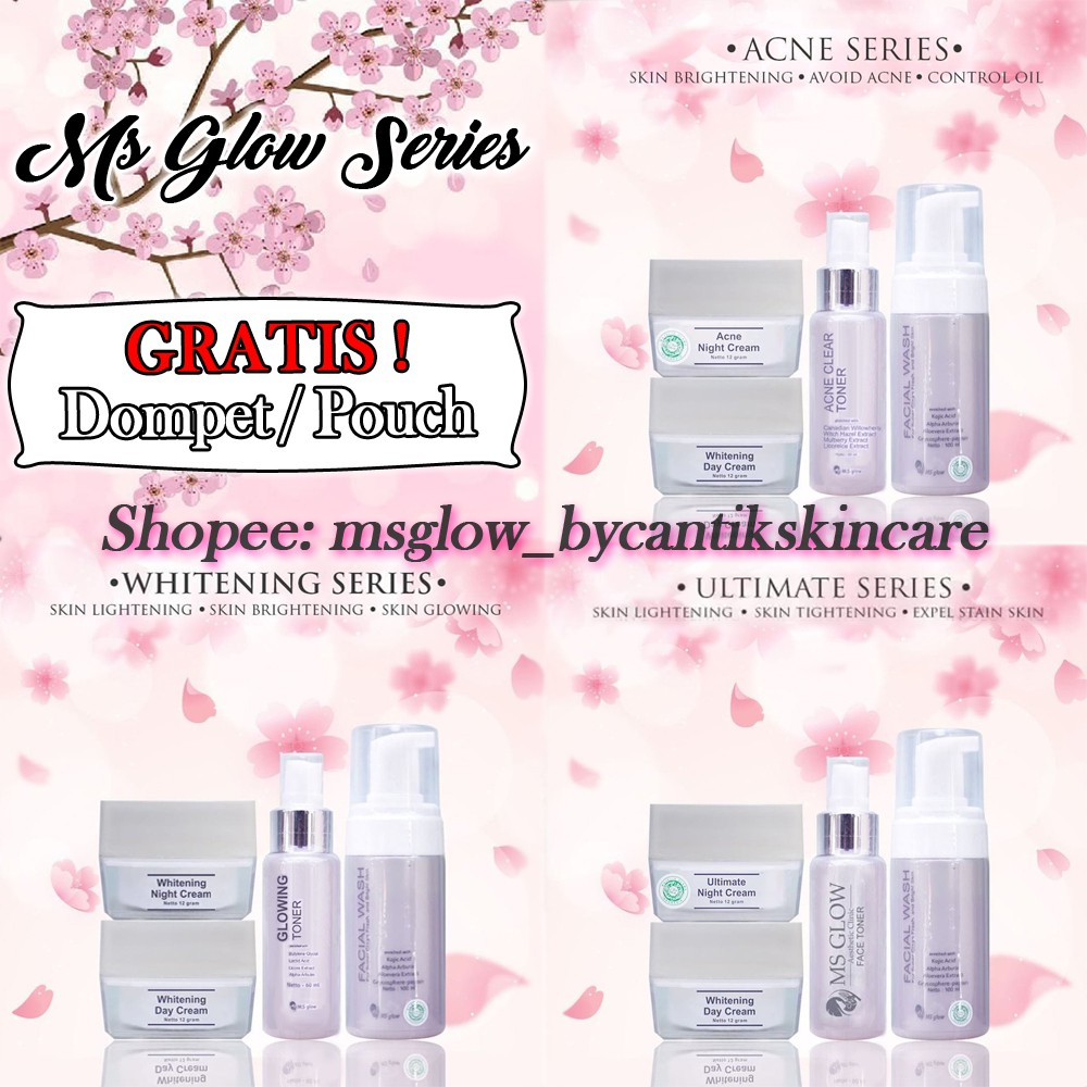 Paket Acne Super Clear Ms Glow Shopee Indonesia Series Original