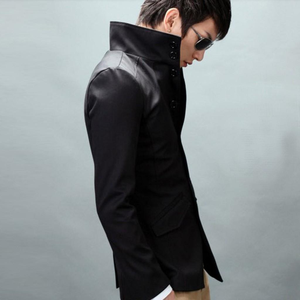 Blazer Hitam List Orange Korean Style Sk69 Shopee Indonesia Crowsdenim Jas Black Pria Sk85