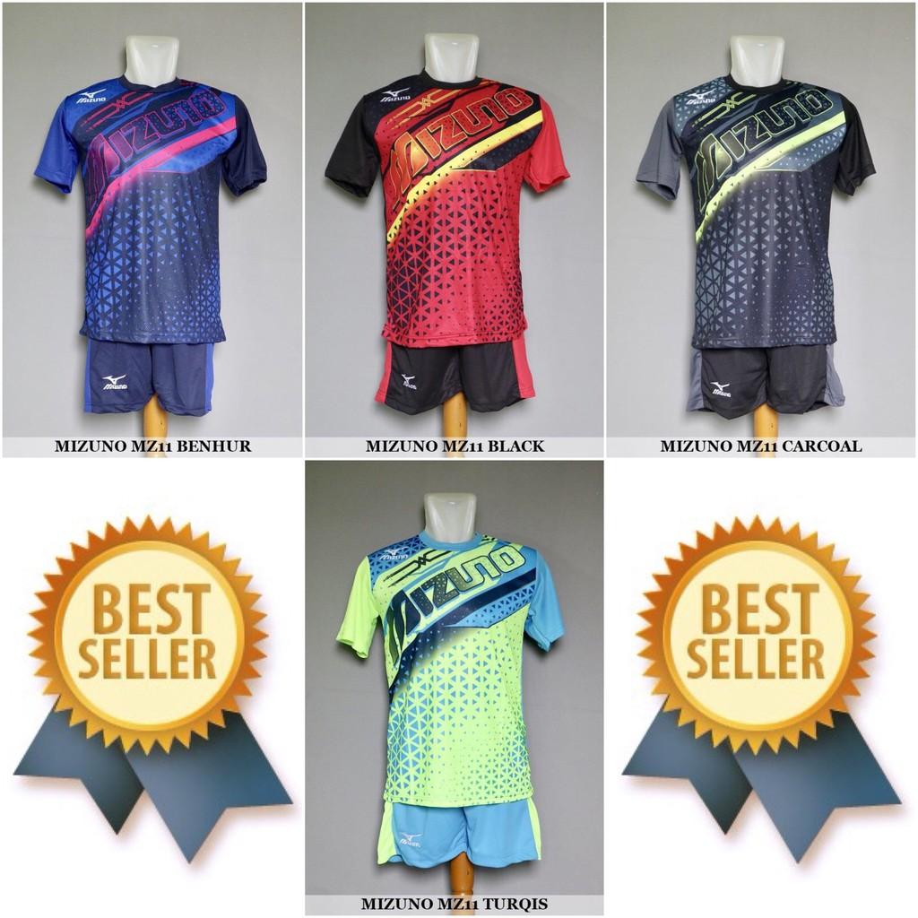 Setelan Voli Volly Volley Mizuno MZ11 (Baju Kaos Jersey Celana Olahraga)  Promo Murah Terbaru  462ac885c3