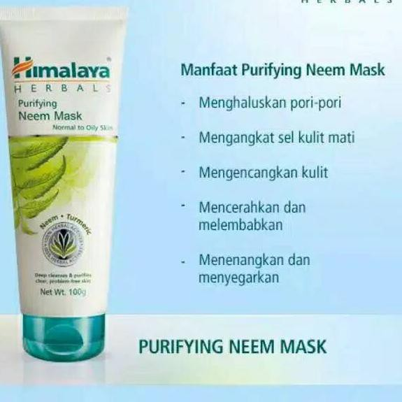 Harga Murah Himalaya Herbals Purifying Neem Mask 50ml 100ml Shopee Indonesia