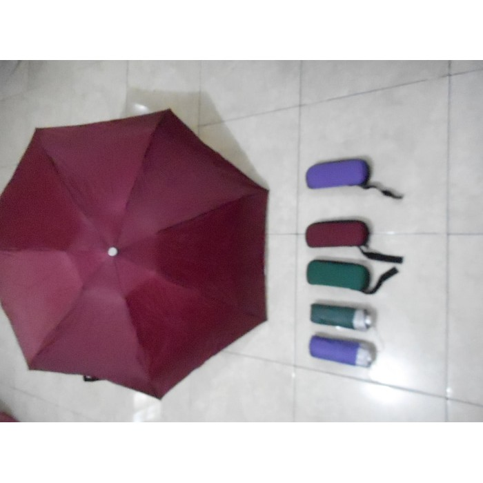 Payung Kecil Mini Lipat Dompet Kotak Kacamata Souvenir   Promosi ... f127b9360b