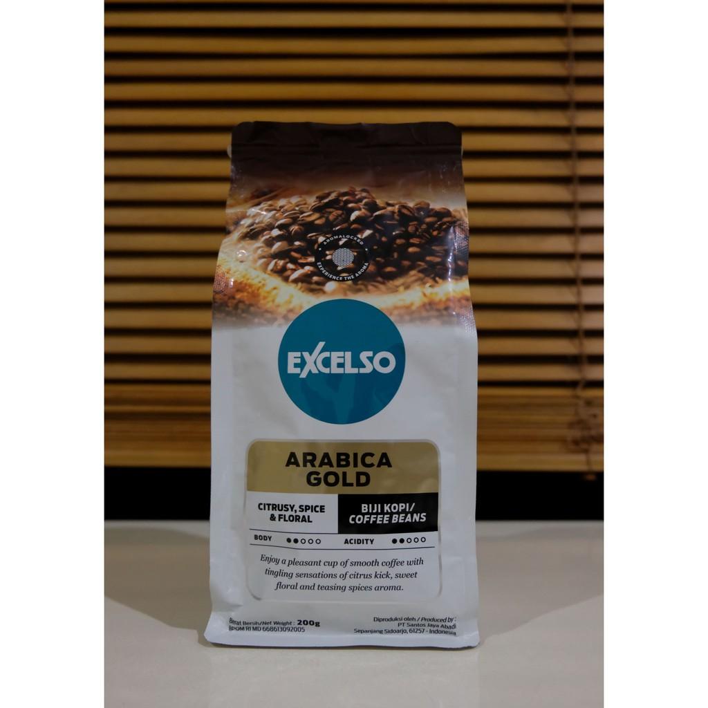 Excelso Arabica Gold Coffee 200gram Biji Theme Park Pro 4k Wallpapers Sumatera Mandheling Single Origin Beans