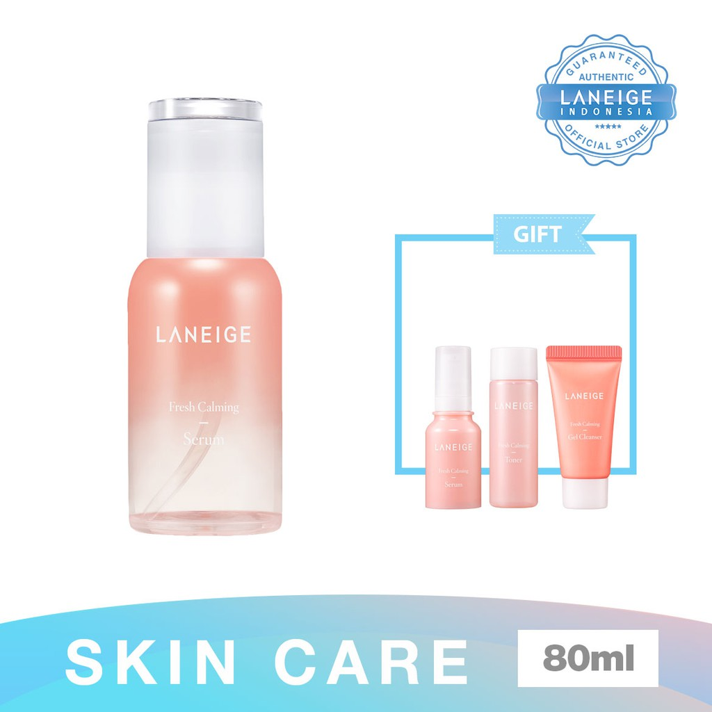 Laneige Fresh Calming Trial Kit 3 Items Shopee Indonesia Set Paket A