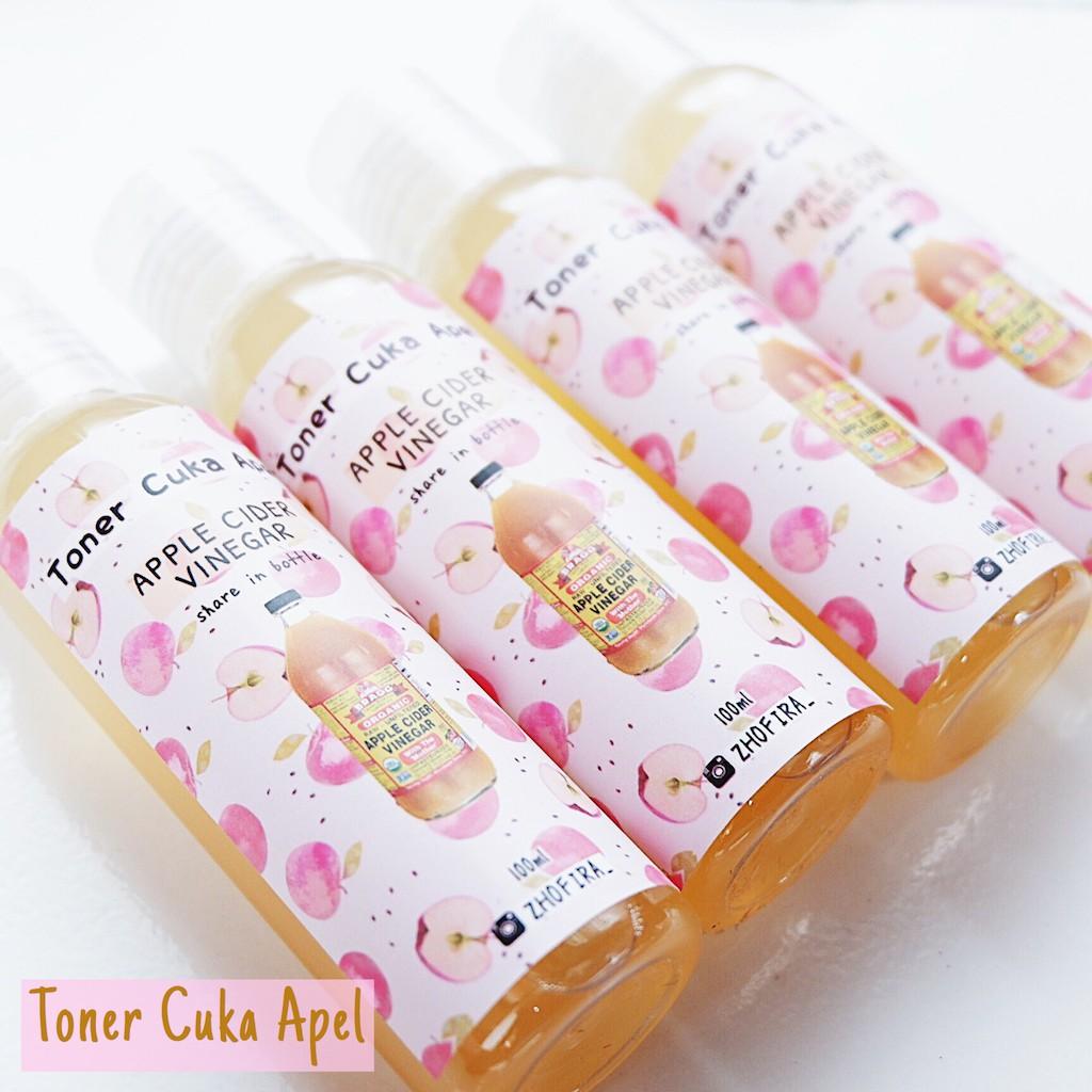 Toner Cuka Apel Bragg Apple Cider Vinegar 100ml Campuran Air Ratio 1 12 Shopee Indonesia