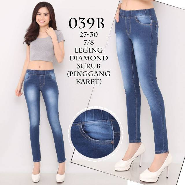 Celana Legging Wanita Dengan Model High Waist Dan Potongan Skinny Legging Jeans Murah Kekinian 039b Shopee Indonesia