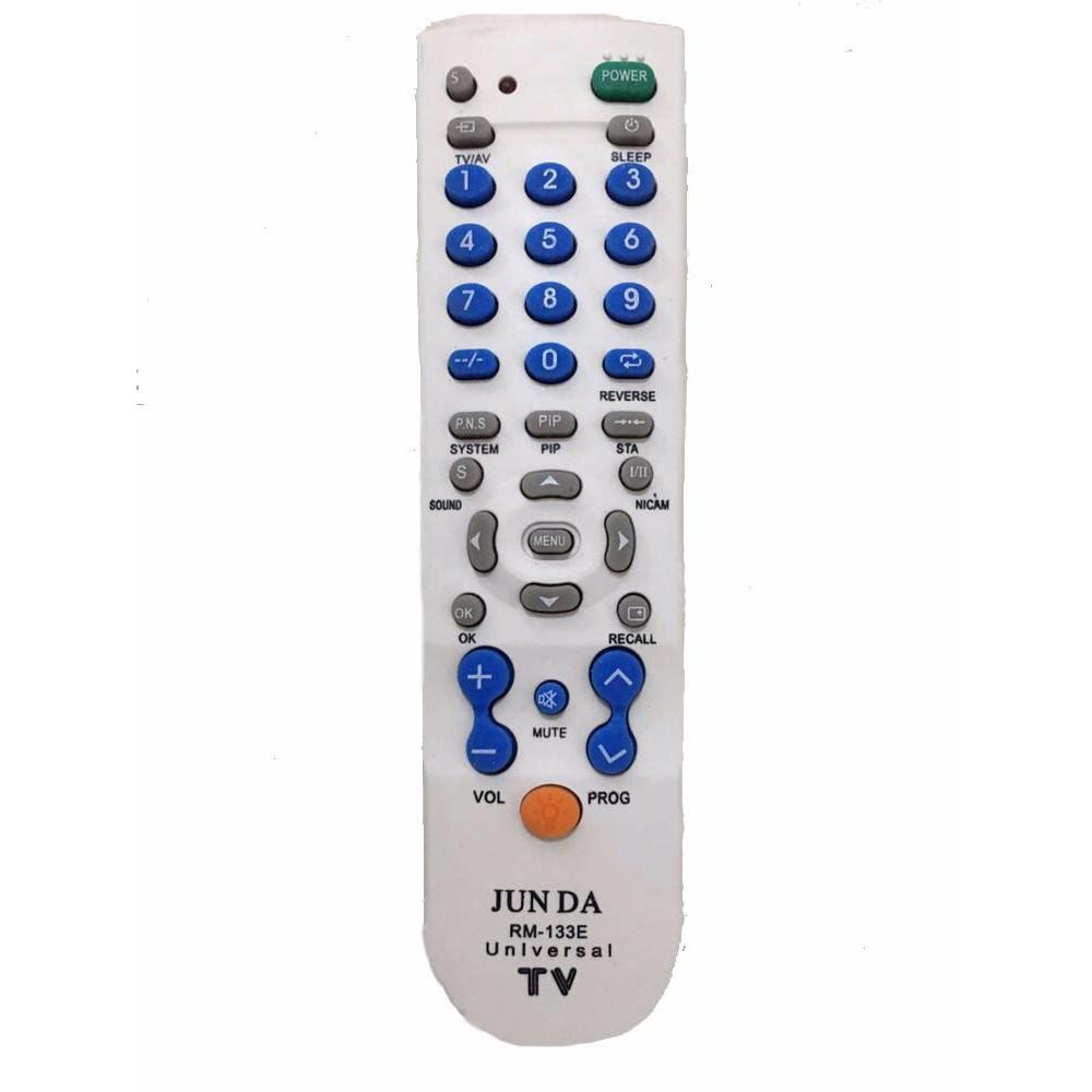 REMOTE TV BISA UNTUK SEMUA MEREK TV / RM-133E + LED [SENTER] !! [100]