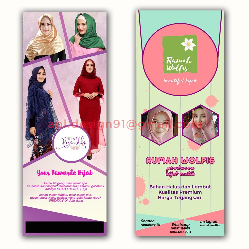 Contoh Banner Toko Hijab - Koleksi Rina