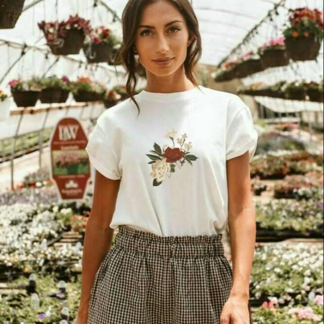Aesthetic Grunge T Shirt Premium Flowersthetic Tee Shopee