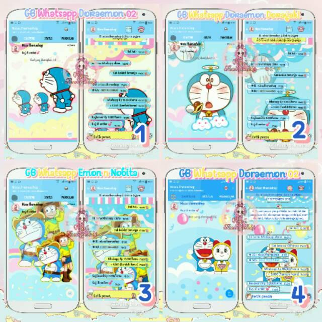 Tema Whatsapp Wa Doraemon Nobita Doremi Dorayaki Shopee Indonesia