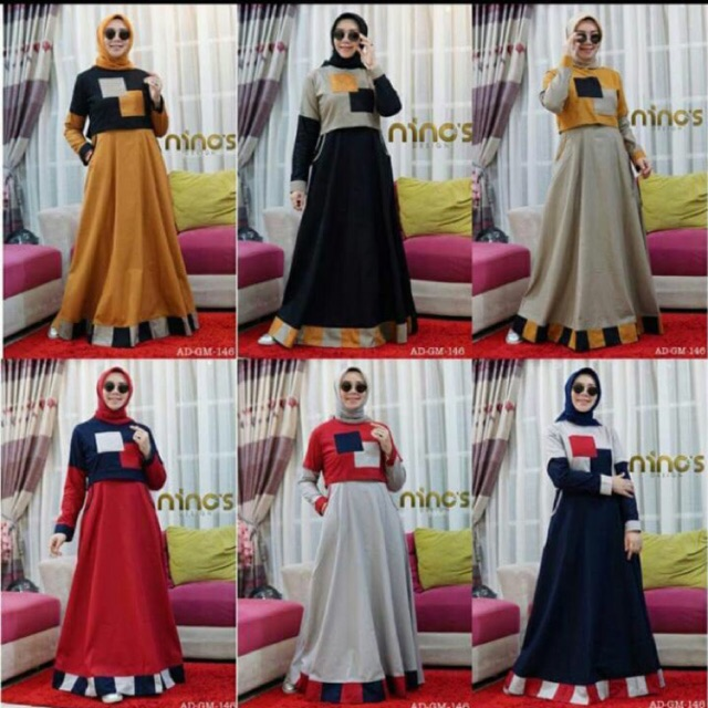 Ninos Design Model Gamis Ninos Terbaru Hijab Converse