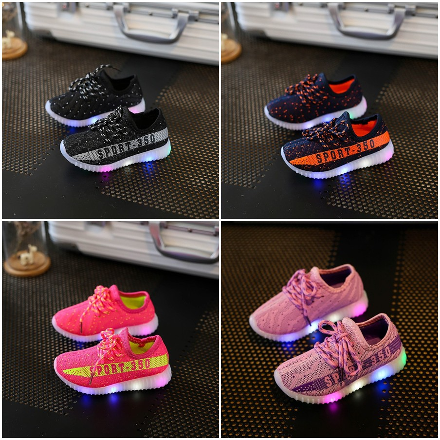 a2263b0b777ae RESTOCK Sepatu Anak Keren Lampu LED Murah Import 21-30 Sepatu Adidas Yeezy  350 Lampu LED Anak