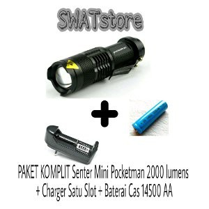 Promo Senter Lampu Flashlight Mini SWAT Pocketman LED 2000Lumens Limited | Shopee Indonesia