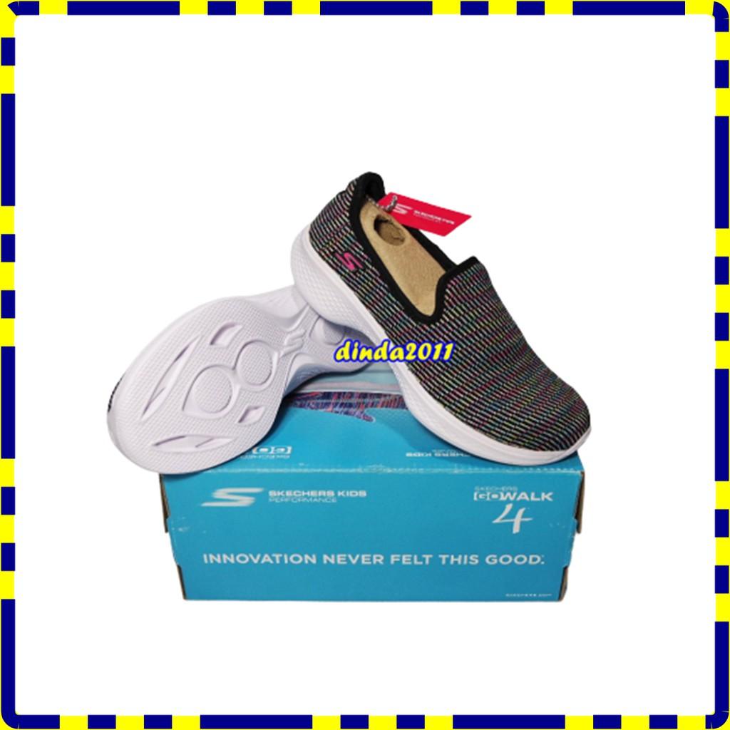 Sepatu Anak Skechers Original Go Walk 4 Select Black Bnib