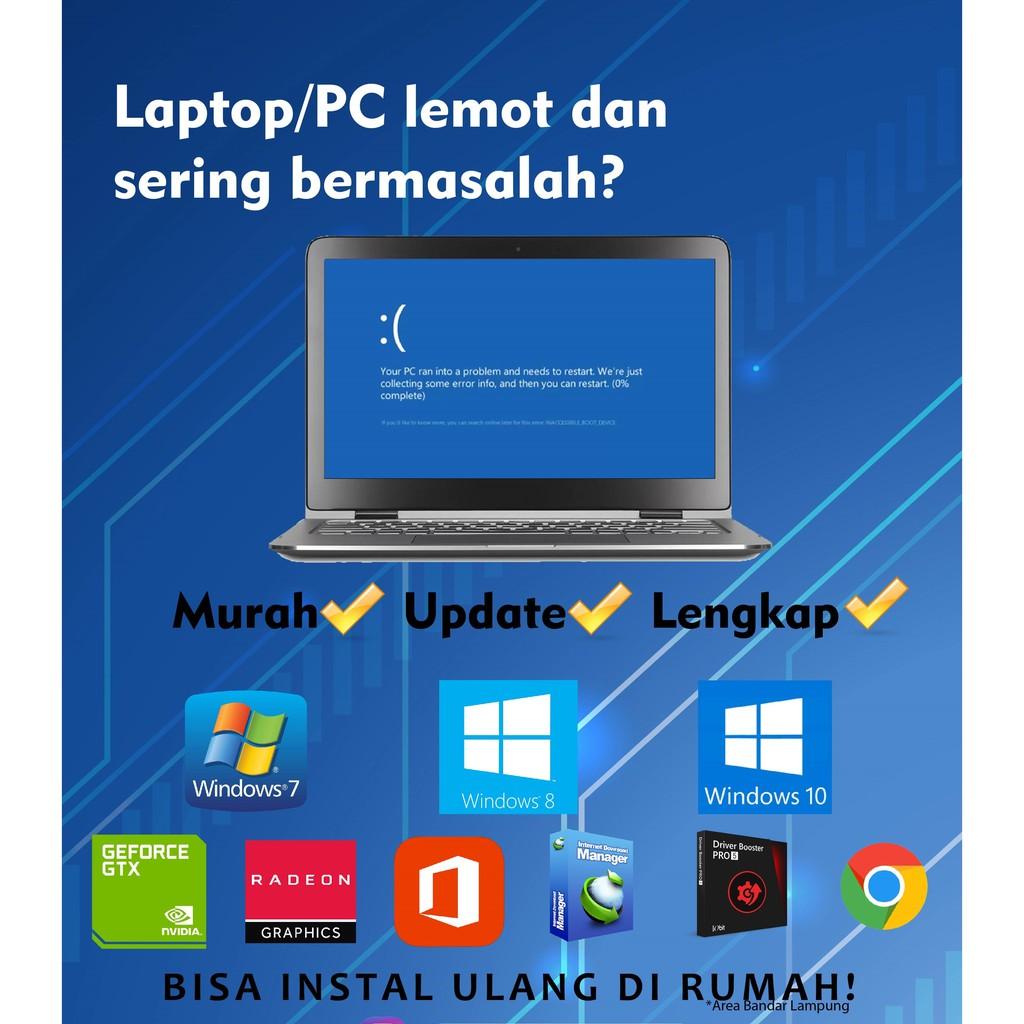 Jasa Instal Ulang Laptop Pc Windows 10 8 7 Shopee Indonesia