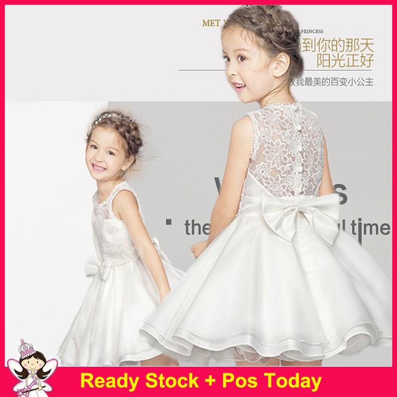 Flower Girl Princess Dress Kid Party Wedding Pageant Formal Tutu Beaded Dresses