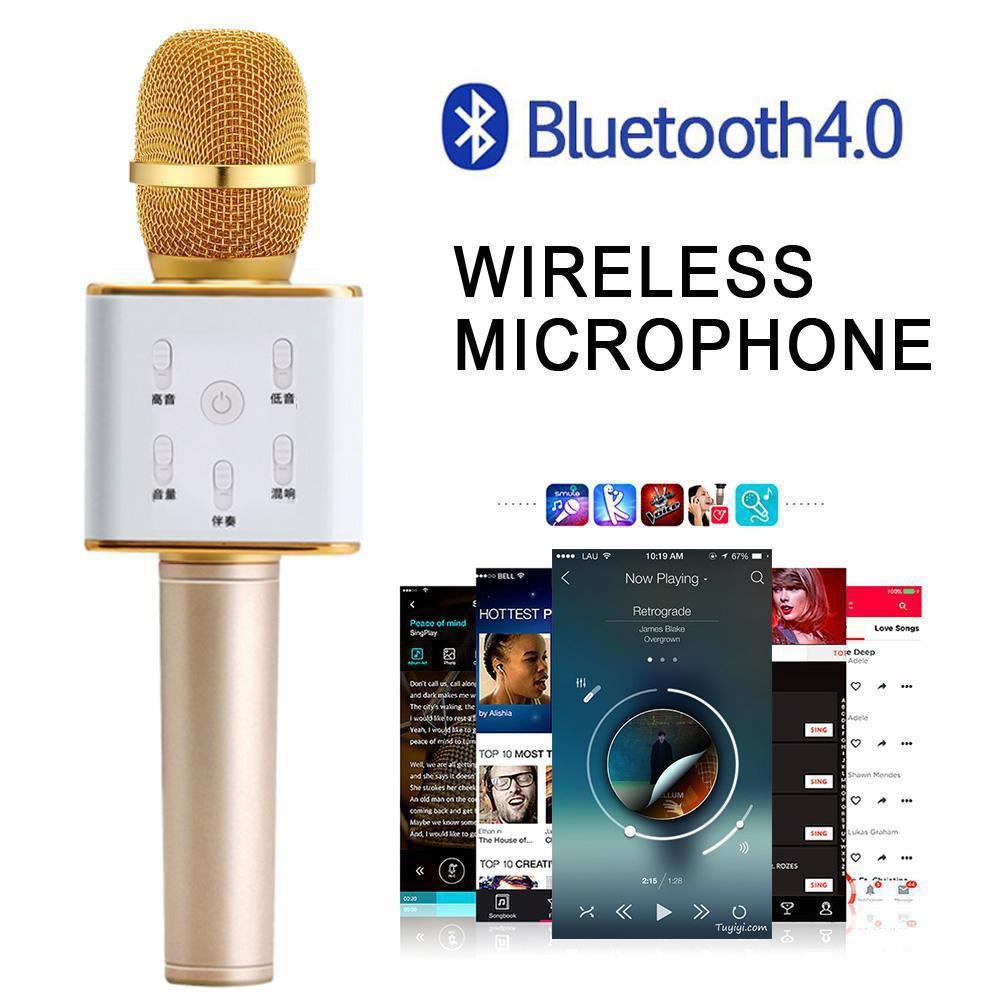 Mic Karaoke Bluetooth Ws 858 Smule Portable Wireless Microphone Wster Speaker Shopee Indonesia