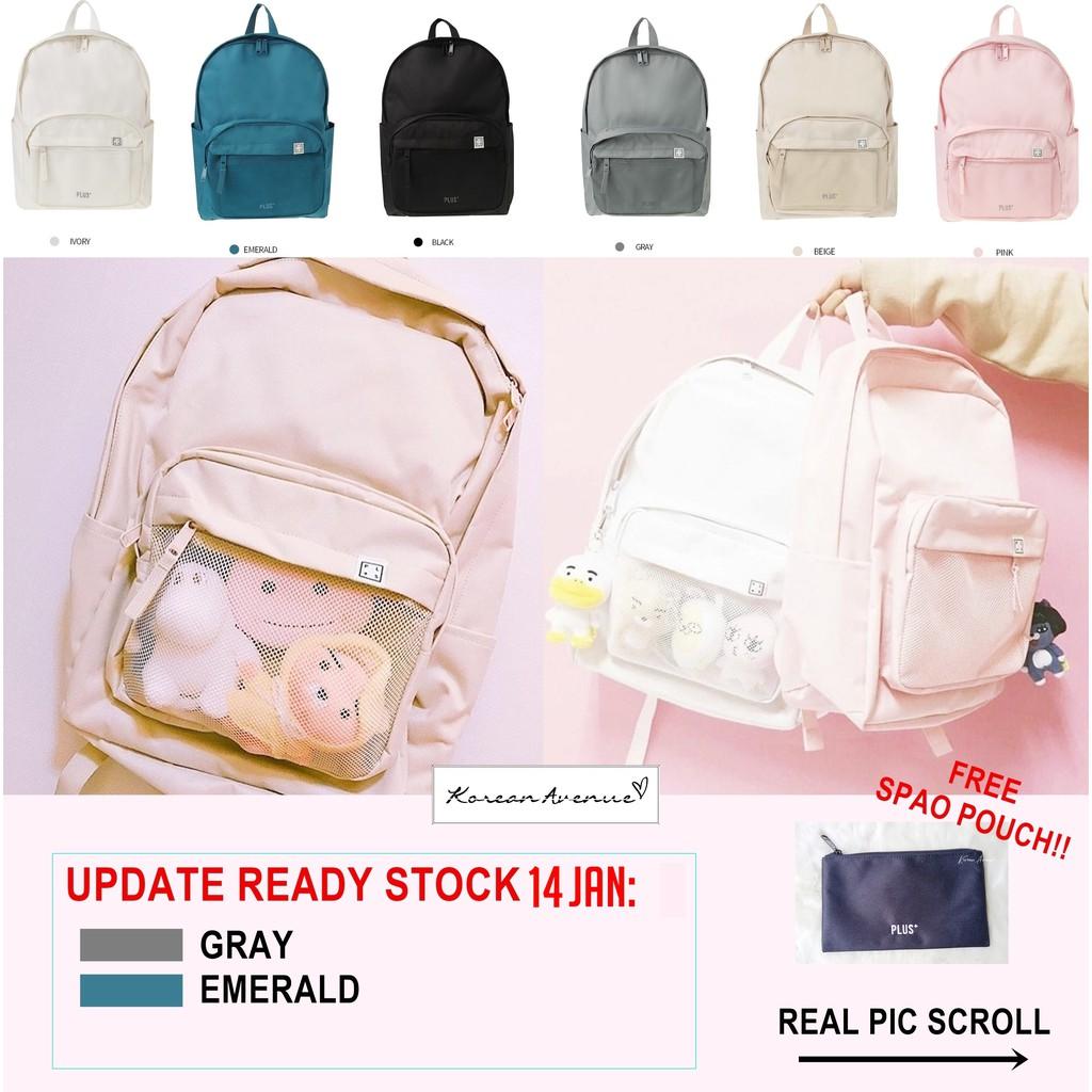 READY STOCK SPAO Backpack Korea Originl 100 CEK DESKRIPSI tas laptop KPOP EXO BTS WANNA ONE