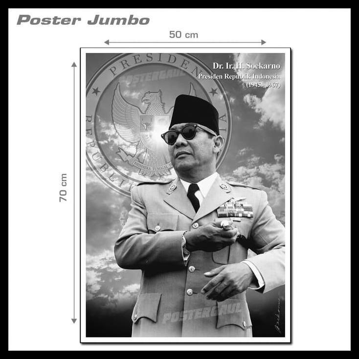 [COD] Poster Jumbo PRESIDEN SOEKARNO: KONSISTEN #SKN01 - ukuran 50 x 70 cm | Shopee Indonesia