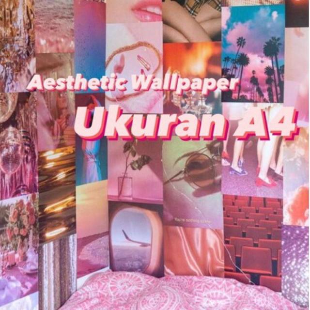 Ukuran A4 Aesthetic Wallpaper Poster Dinding Ukuran A4 Shopee Indonesia