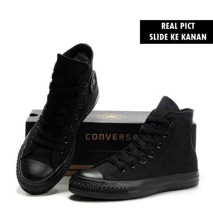 94c4a30e88aa GFS 101 ® - Sepatu Converse All Star Chuck Taylor 2 Mono   Full Black Hitam  Low - Grade Original