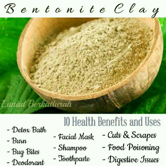 Bentonite Clay 500gr Cosmetic Grade