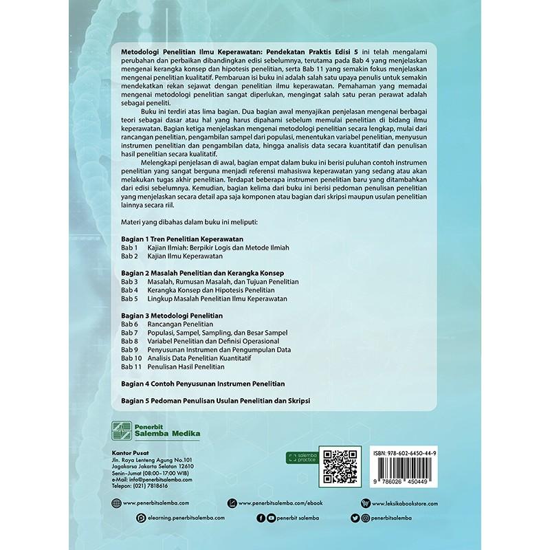 Original Buku Metodologi Penelitian Ilmu Keperawatan Pendekatan
