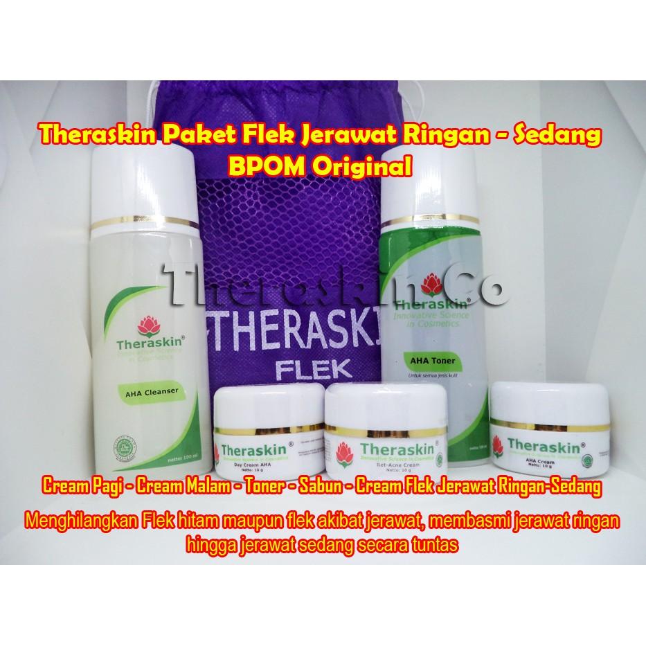 Theraskin Original Paket Jerawat Acne Daftar Update Harga Terbaru Oily Cream Bumil Busui Bupromil Asli Bpom Shopee