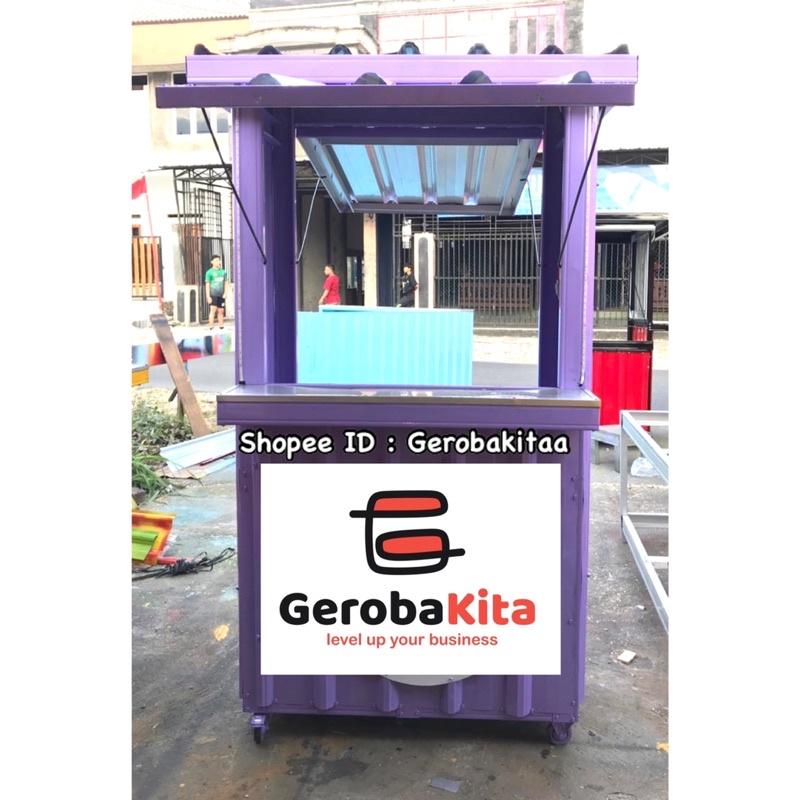 Booth Semi Container murah / Gerobak semi kontainer / Gerobak semi murah