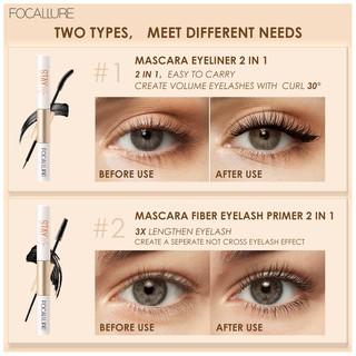 Focallure 2 In 1 Maskara + Eyeliner Anti Air Untuk Hasil Bulu Mata Tebal Dan Lentik 6