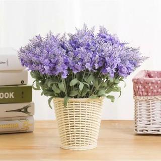 bunga plastik hias murah buket lavender artificial hiasan