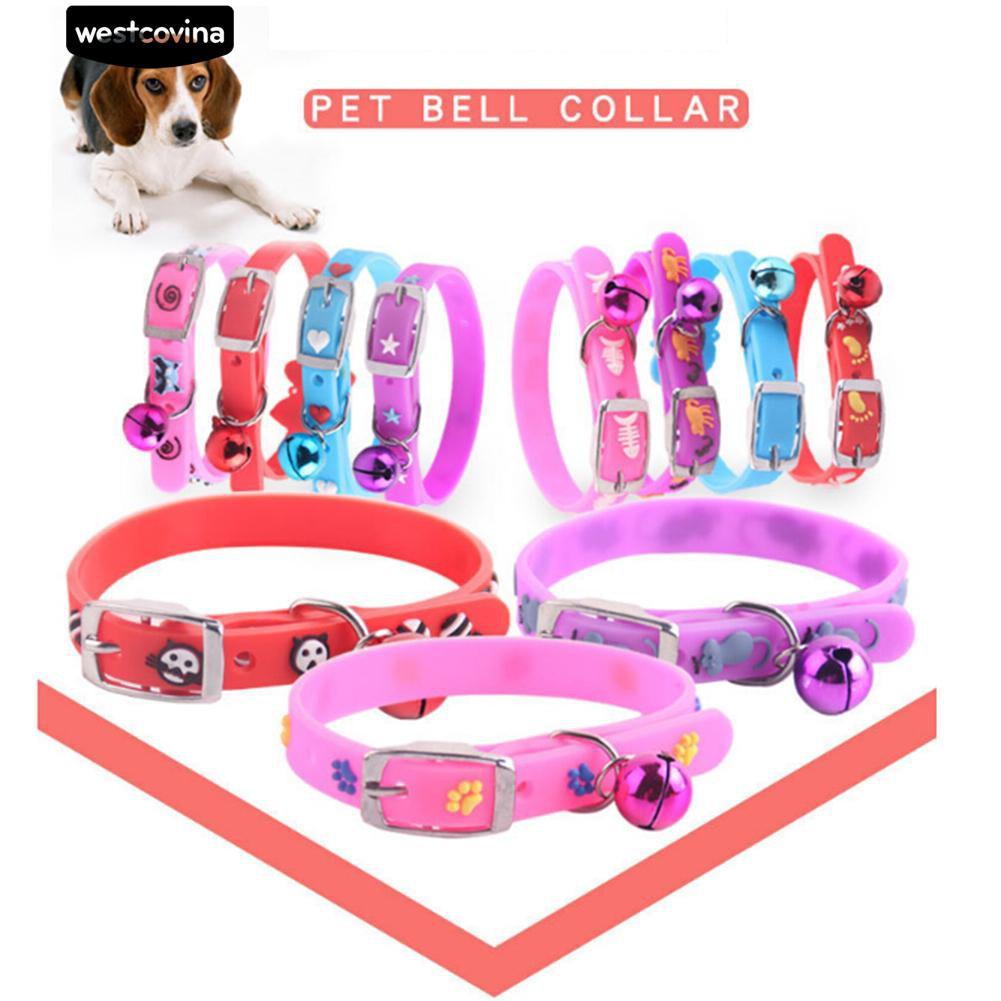 [Bayar di Tempat]🌿Sequin Pet Collar Dog Cat Rilis cepat Gesper Kalung dengan